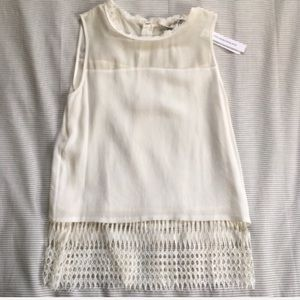 Chelsea and Walker | Sleeveless Lace Blouse | Sz 2